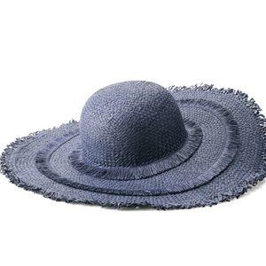 🆕️Navy layered fringe sun hat